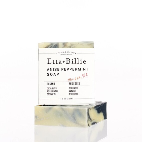 Anise Peppermint Soap Bar Organic Ingredients Vegan