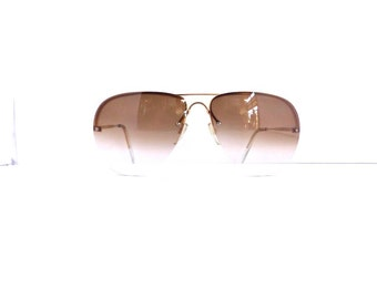 1980's Aviator Sunglasses Frames // Vintage Women's Rimless with Gold Frames //#M192