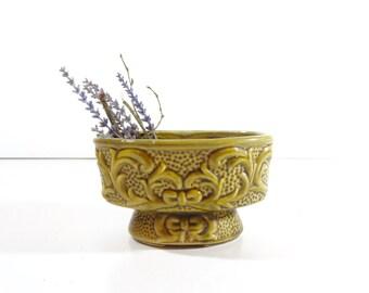 Vintage Green Ceramic Planter