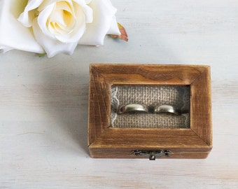 Glass Ring Box, Wedding Ring Box, Personalized Ring Bearer Box, Еngagement box, Proposal Box, Ring Holder, Custom Ring Box, Rustic Ring Box