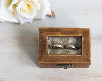 Glass Ring Box, Wedding Ring Box, Personalized Ring Bearer Box, Еngagement box, Proposal Box, Ring Holder, Custom Ring Box, Rustic Ring Box