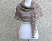 Knit shawl, bridesmaids shawl, lace shawl, knitted wrap gift for her wedding shawl