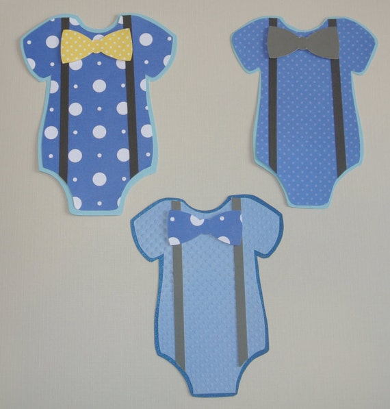3d onesies cut outs 6 onesie scrapbooking for Baby shower decoration cutouts