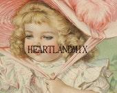 Girl Vintage Digital Download Printable Image wall art Illustation