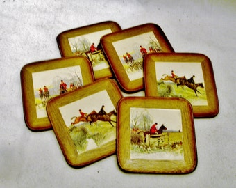 Six Coasters Pimpernel Series Miniatures 3 Square Inches-A Celluware Product-Made in England