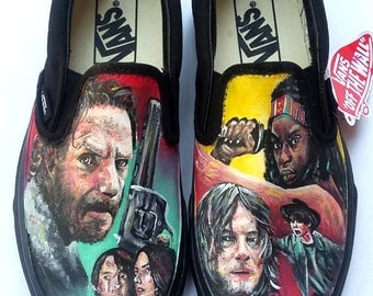 Hand Painted Walking Dead Shoes