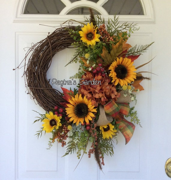 Sale Fall Wreath Fall Wreath For Door Sunflower Wreath Rustic