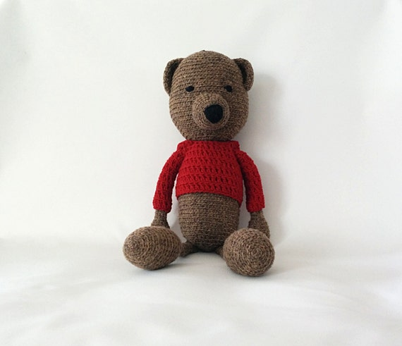 Amigurumi Baby Shower Bears : Teddy Bear Crochet Amigurumi Bear Baby Shower Gift Baby