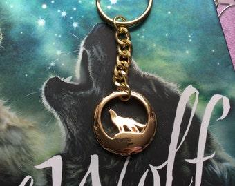 Wolf keychain, totem animal, witch, Wiccan, power animal