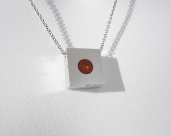 Minimalist Necklace – Sphere Pendant – Minimalist Jewelry – Contemporary Jewelry Design