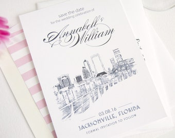 Jacksonville Skyline Save the Date Cards (set of 25 cards)