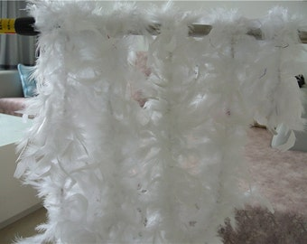 1 pcs 80g Chandelle Feather Boa WHITE 6 ft Flapper Burlesque Costume