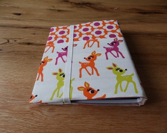 Set A5 folder ring guide ring binder + notebook Bambi to the upholstery fabric cover create handmade gift