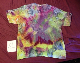 Ice Dye Men's T shirt Extra Large