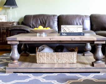 Balustrade Farmhouse Coffee Table