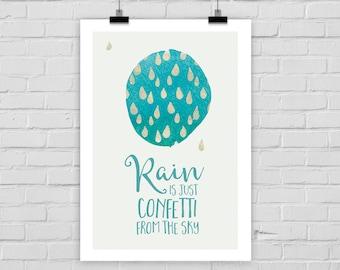 print poster RAIN IS CONFETTI