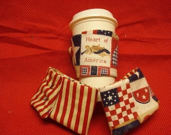 Patriotic cup cozy