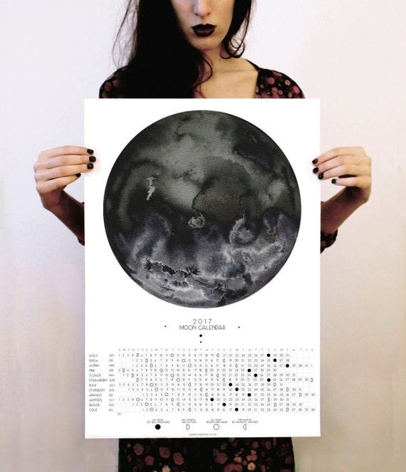 Calendrier 2017 calendrier lunaire phases de lune - Calendrier de la lune 2017 ...