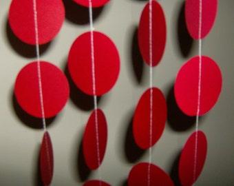 Red Circles, Circles,  Red Circle Garland, Birthday Garland,  Red Circles, Happy Birthday, Baby Shower, Valentines, Bridal Shower, Wedding