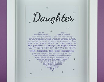 Daughter gift, Daughter Birthday, 21st Birthday gift, Daughter 21, Mother Daughter gift, Father Daughter gift