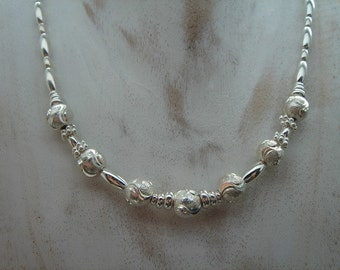 925 Silver chain with beads! Pure silver!