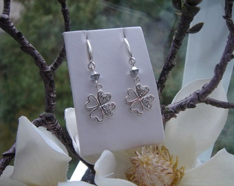 925 Silver earrings! Sparkling double happiness!