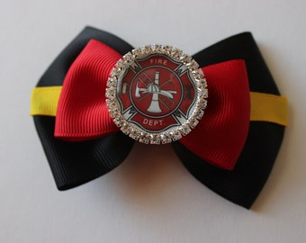 Fire Department- FireFighter Inspired Bow