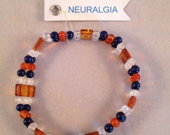 Double Row Gemstone Stretch Bracelet for Neuralgia Sufferers