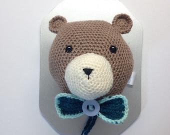 Taxidermy Crochet Bear Trophy Head