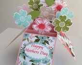 Handmade Mothers Day Card, 3d Flowers Card, Mothers Day Flowers Card