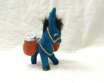 felt donkey salt and pepper shaker