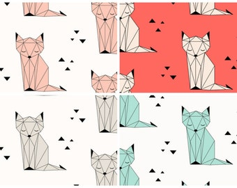 Custom Baby Bedding// Sleeping Fox Collection// choose your color