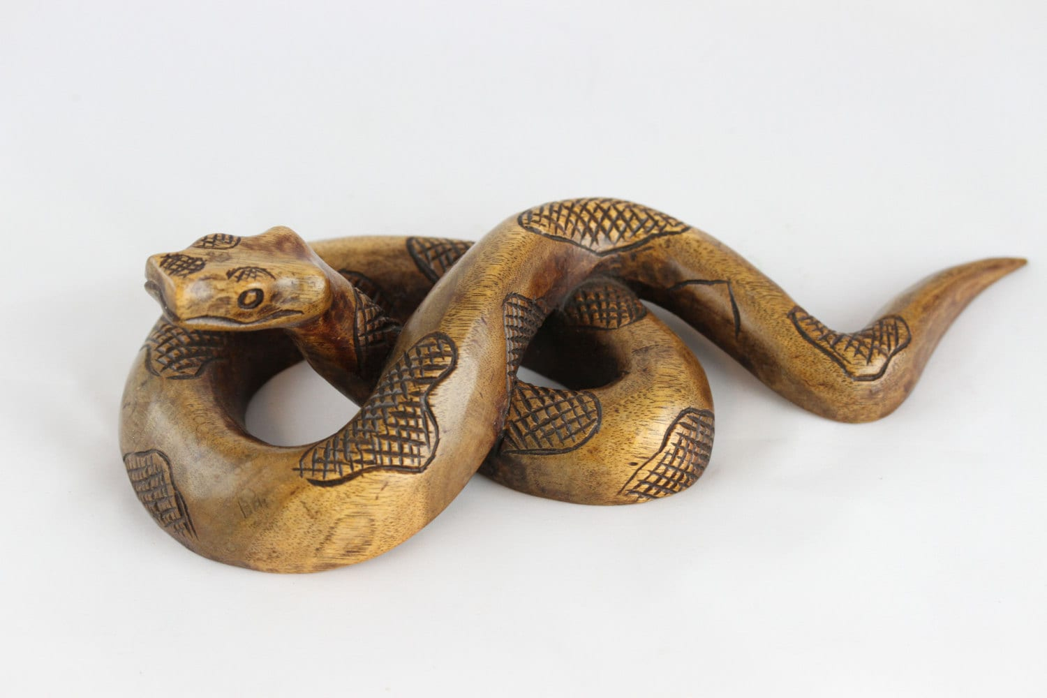 Hand carved wood snake wooden sono