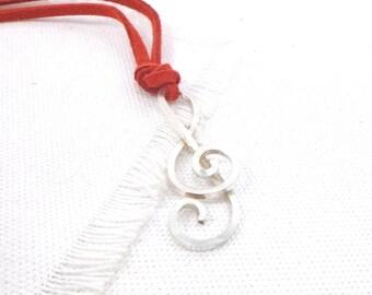 Sterling treble clef, sterling violin key, violin key necklace, music symbol charm, sterlin music charm, handmade music, musician gift idea.
