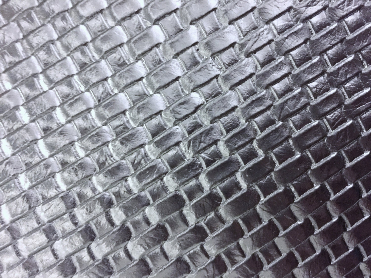 Silver Basket Weave Woven Upholstery Vinyl Fabric Sold By