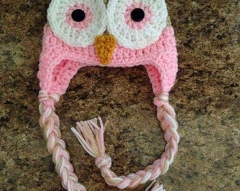 Made To Order Customizable Owl Hats for Any Age! Choose ANY color (s) Optional Newborn Diaper Cover!