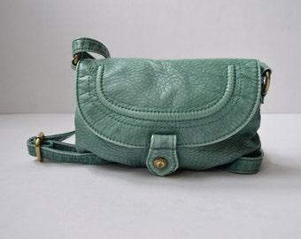 Aqua Green Leather Bag Crossbody bag Small shoulder bag Mini womens bag Messenger Bag Satchel Bag Mini Crossbody