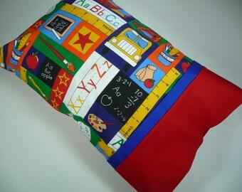 Travel Pillow/Small Pillow/ Pillowcase/Travel Pillowcase/ School/Gift/Teacher Gift/Bus Driver/Kindergarten/Child