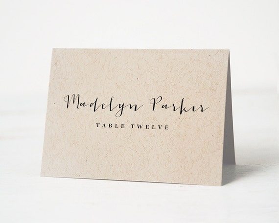 Unforgettable image inside free printable wedding place cards