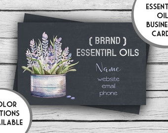 Digital ESSENTIAL OILS LAVENDER Business Card, Marketing Tools, Printable, Business Stationery, Calling Cards