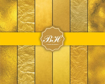 Gold Foil Digital Paper, Metallic Gold Digital Paper, Gold Paper, Dark Gold Backgrounds, Gold Foil Paper, Gold Scrapbook Paper, Rich Gold