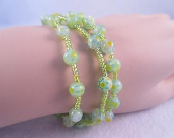 Green Stretch Bracelets
