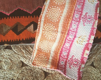 Kantha Burp cloth handmade