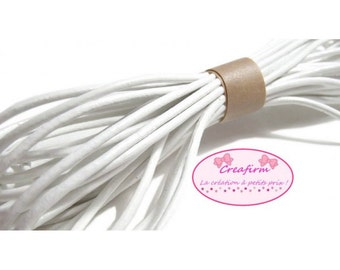 Cord leather genuine white 2 mm - 10 m