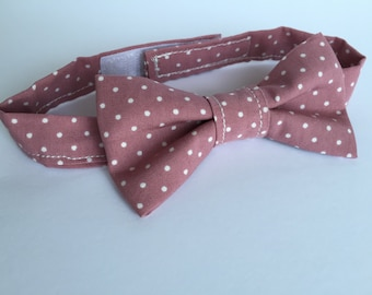 Pink Spotted Bowtie For Cats