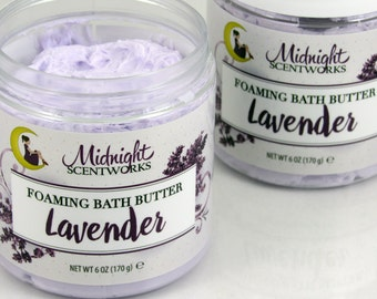Whipped Soap - Lavender Foaming Bath Whip - Whip Soap - Bath Butter - Lavender Bath Whip - Gift for Mom - Fluffy Foaming Soap - Gift for Her
