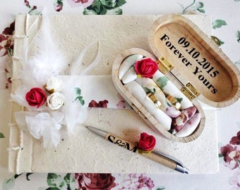 Guestbook Feather guestbook wedding wedding