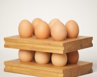 Oak Egg Rack