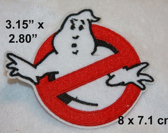 ghostbusters inspired embroidered iron-on patch R211PATCH
