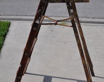 Old Four Step Step Ladder
